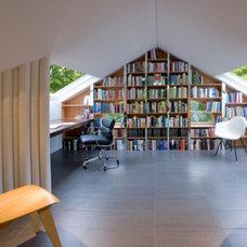 Modern Family Room Urbanski attic renovation