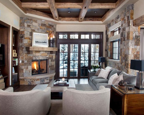 Stone Corner Fireplace Ideas Pictures Remodel And Decor