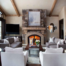 Rustic Family Room by Slifer Designs