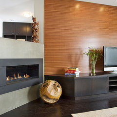 modern media room by Home Completions