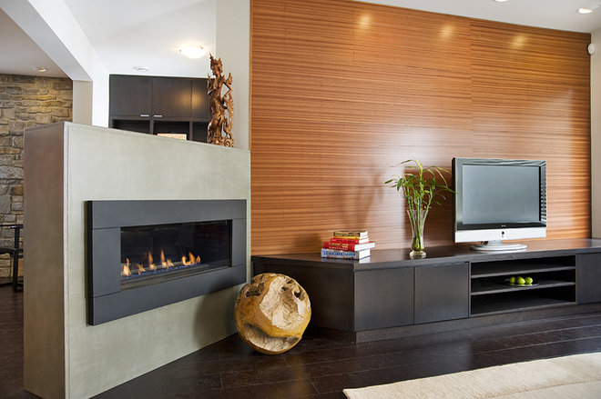 Modern Family Room by Home Completions