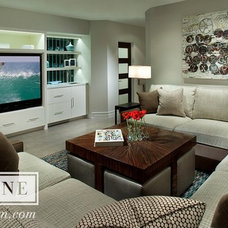Traditional Family Room by Vallone Design