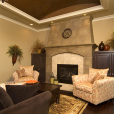Mediterranean Family Room by Rivertown Homes by Design