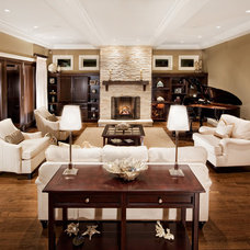 Traditional Family Room by tdSwansburg design studio