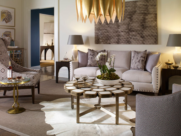 Transitional Family Room by Crypton