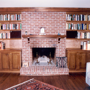Various custom fireplace mantles, bookcases, and entertainment centers.
