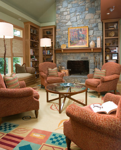 traditional family room by Designing Solutions