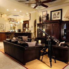 Contemporary Family Room by Divco Custom Homes