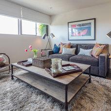 Contemporary Family Room by Amy DeVault Interior Design