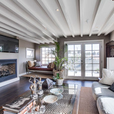 Transitional Family Room by Luke Gibson Photography