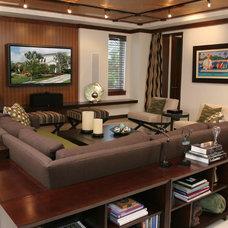 Contemporary Family Room by B Pila Design Studio