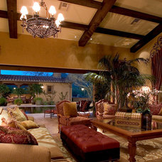 Mediterranean Family Room by Camelot Homes