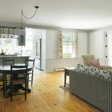 Farmhouse Family Room by Peregrine Design Build