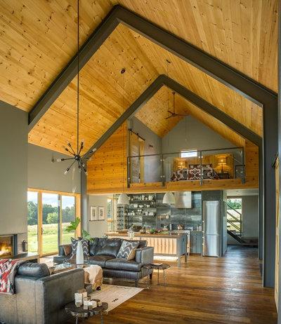 Modern Family Room by Joan Heaton Architects