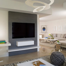 Contemporary Family Room by Interiors & Architecture Photography by Ken Hayden