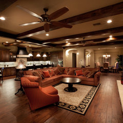 mediterranean family room by Level Development Group LLC