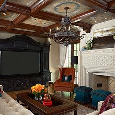 Mediterranean Family Room by Vivid Interior Design - Danielle Loven