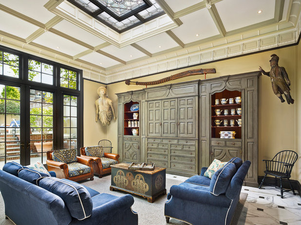 Victorian Family Room by Kass & Associates