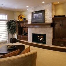 Contemporary Family Room by A Collaborative Design Group