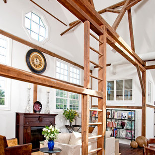 View of the living room of the remodeled barn in Bucks County