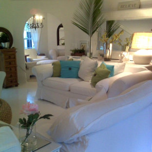 view of white wood floors different angle beach style