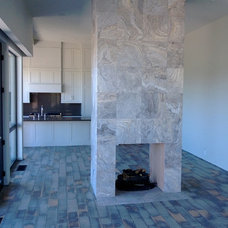 Contemporary Family Room by Tim Walker - sales rep at R&K Building Supplies