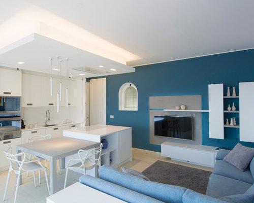 mediterrane wohnzimmer in italien ideen design bilder. Black Bedroom Furniture Sets. Home Design Ideas