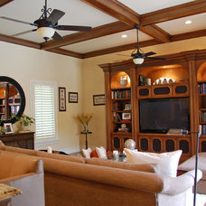 Mediterranean Family Room by Keesee and Associates, Inc.