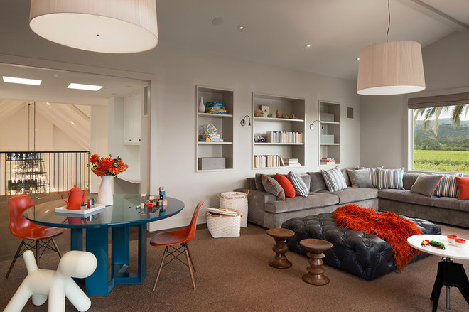 Contemporary Family Room by TOTAL CONCEPTS