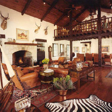 Eclectic Family Room by Vining Design Associates