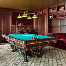 Traditional Family Room by kim scodro interiors
