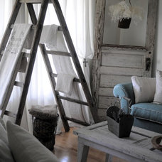 Eclectic Family Room by Buckets of Burlap