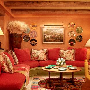 Inspiration for a huge mediterranean family room remodel in San Francisco