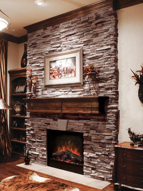 Ledgestone Fireplace Houzz