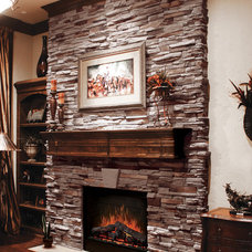 Traditional Family Room by Coronado Stone Products