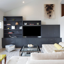Transitional Family Room by Elena Calabrese Design & Decor