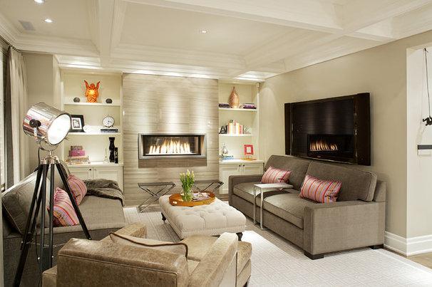Contemporary Family Room Vizzini