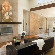 Contemporary Family Room by Gina Roberts-Wagner