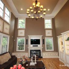 Traditional Family Room by Trim Team NJ