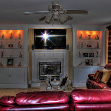 Eclectic Family Room by CCS Woodworks Inc.