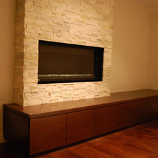 Contemporary Family Room by Cabinet Effects