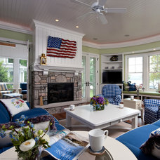 Beach Style Family Room by Shoreline Architecture & Design