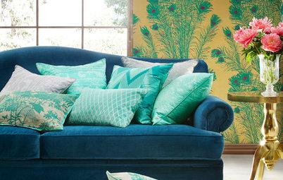 Trendspaning: Påfågelns färgrika prakt breder ut sig i våra hem