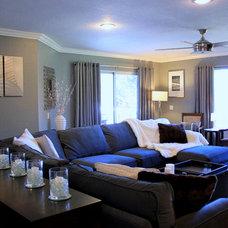Contemporary Family Room by Jami Abbadessa