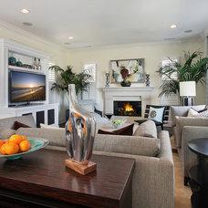 Contemporary Family Room by International Custom Designs