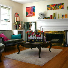 Eclectic Family Room by Martha Layton Smith