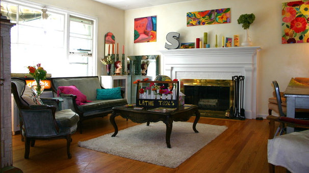 Eclectic Family Room Warehouse Chic style