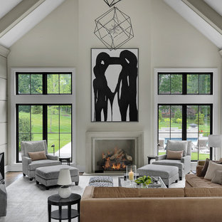 Family room - large transitional family room idea in St Louis