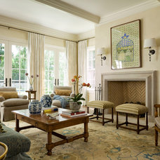 Traditional Family Room by Jessica Jubelirer Design