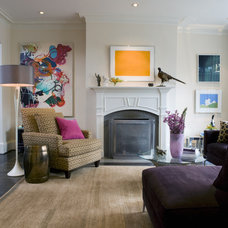 Modern Family Room by Liz Levin Interiors